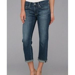 Adriano Goldschmied AG The Tommy Crop Relaxed Straight Leg Size 26R